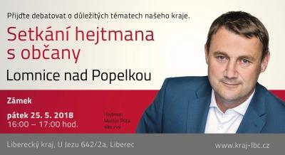 Hejtman Martin Půta zavítá do Lomnice nad Popelkou