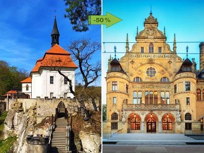 Se vstupenkou z Valdštejna do Oblastní galerie Liberec