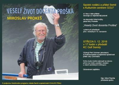 Miroslava Prokeše připomene kniha Veselý život docenta Proška