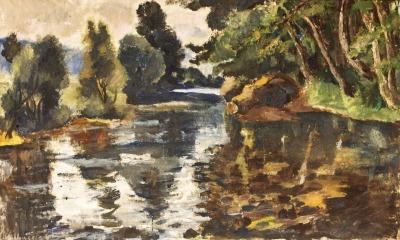 Obrazy z domova Vladimíra Hlubučka v Galerii Detesk