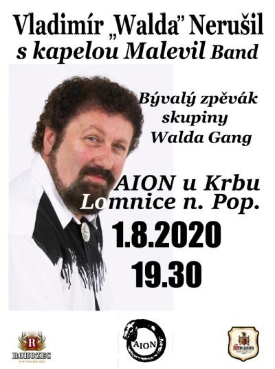 Vladimír Walda Nerušil a Malevil band zahrají v lomnickém klubu