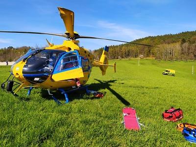 Horská služba měla o víkendu dva zásahy s vrtulníkem