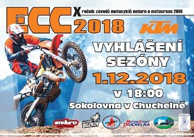 Slavnostní vyhlášení seriálu KTM ECC 2018 se koná v Chuchelně