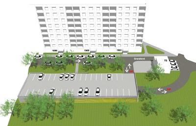 Občané Výšinky si mohou prohlédnout návrh parkovacího domu