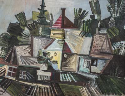 Obrazy a grafiky Jaroslava Klápště vystavují v Železném Brodě