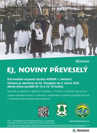 V Krkonošském muzeu zahájí vánoční výstavu Ej, noviny převeselý