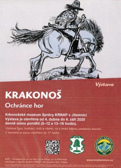 Ochránce hor Krakonoš až do září sídlí v Krkonošském muzeu v Jilemnici