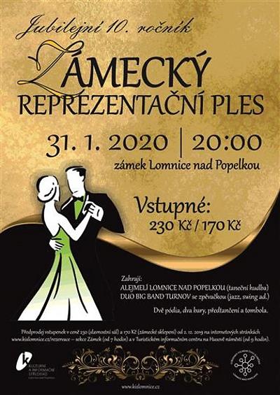 Zámecký ples v Lomnici láká na dva taneční parkety i dva bary