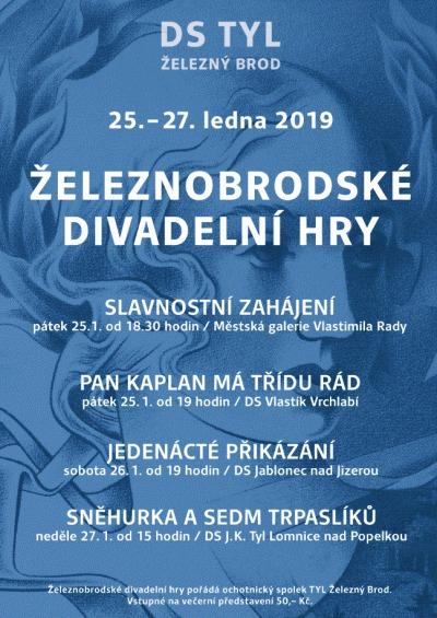 Přehlídku Železnobrodské divadelní hry zahájí v galerii Vlastimila Rady