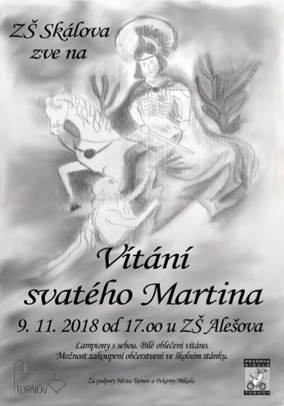 ZŠ Skálova Turnov zve na Vítání sv. Martina