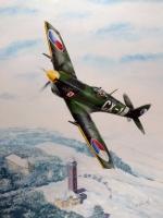 Rozhledna Tábor na starých pohlednicích - přelet pilota Františka Truhláře nad Táborem