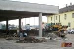 Průběh výstavby terminálu v srpnu 2011