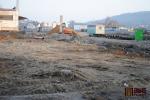 Průběh výstavby terminálu v únoru 2011
