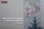 Komunistická mozaika už je doplněna citátem