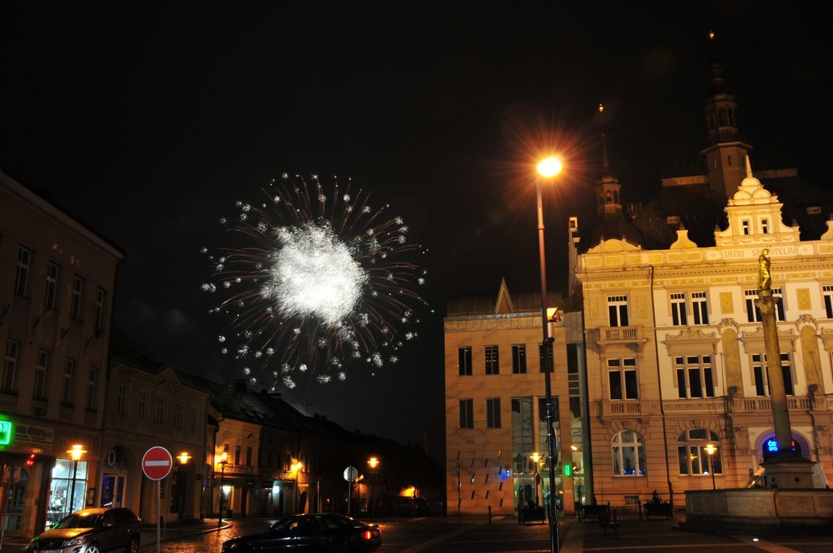 Novoroční ohňostroj v Turnově