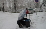 Jilemnicko: Kvůli přívalům sněhu padaly stromy a bourala auta