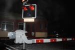 Vykolejení vlaku v Semilech na přejezdu v Nádražní ulici