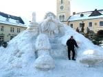 Sněhový Krakonoš i jeho tvůrcem Josefem Dufkem