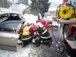 V Plavech havaroval osobní vůz Subaru Impreza