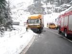 Nehoda kamionů v Držkově zablokovala silnici ze Železného Brodu