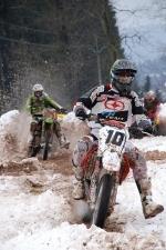 Motoskijöring a motocross Nouzov, druhý v motocrossu Tomáš Faistaver