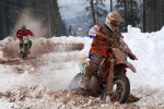Motoskijöring a motocross Nouzov, jezdec Kučera
