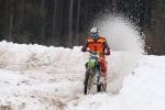 Motoskijöring a motocross Nouzov, vítěz motocrossu David Mühlfait