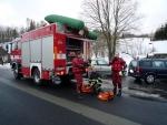 V Dolní Sytové zachraňovali obyvatele zaplavených domů hasiči