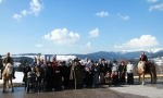Setkání horalů a lyžníků na Benecku