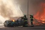 Obrazem: Požár bývalé pily ve Vrchlabí
