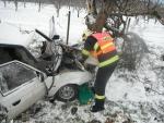Favorit se šesti lidmi narazil ve Žlábku do stromu, dva jsou těžce zranění