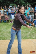 Westernový den v Semilech 2012. Laso show Romanita - Romana Konečná