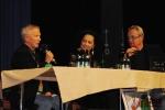 Radiodárek s Lucií Bílou věnovaný Vladimíru Komárkovi. Michail Ščigol, Lucie Bílá a Alexander Hemala
