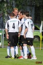 Krajský přebor ve fotbale, utkání SK Semily - FK Sedmihorky. Radost z prvního semilského gólu
