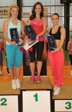 Regionální kolo Miss aerobik se konalo 3. června v Liberci. Zcela vpravo Nikola Simandlová