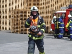 Hořela pila v Horkách, naštěstí jen při taktickém cvičení hasičů