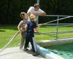 Semilská parní stříkačka nechyběla na oslavách v Dobré vodě u Hořic