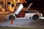 Na benzince v Příšovicích hořelo Lamborghini za 4 miliony
