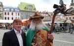 Krkonošské pivní slavnosti - 15. ročník, starosta Vrchlabí spolu s Krakonošem