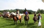 FOTO: Koně a jezdci skákali na Krkonošském klání v Horním Lánově