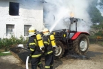 Byli jste při tom: Traktor zničily plameny