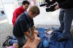 FOTO: Ve Skálovce v Turnově dětem předváděli zásahy při nehodě