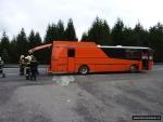 FOTO: Autobus zachvátily plameny