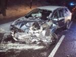 Nehoda dvou vozidel v Bradlecké Lhotě
