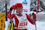 Nedělní závody v rámci Jilemnické padesátky 2013, vítězka na 25 km klasicky Jitka Pešinová