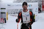 Nedělní závody v rámci Jilemnické padesátky 2013, vítěz závodu na 50 km Miroslav Janošec