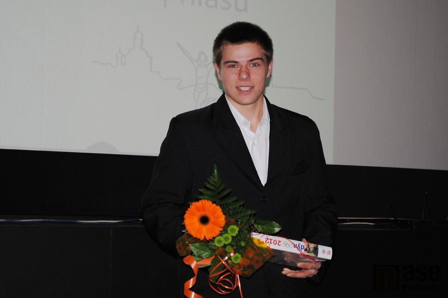 Vyhlášení ankety Sportovec Turnova za rok 2012, vítěz hlasování fanoušků Jan Formáček