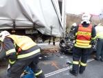 Nehoda na silnici R35 z Turnova do Liberce