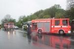 OBRAZEM: Autobus plný dětí začal hořet