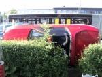 FOTO: Automobil skončil na boku